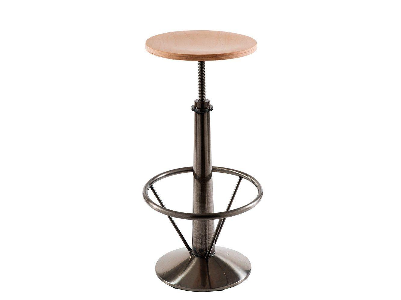 Sgabello da bar in legno ad altezza regolabile infinity sgabello