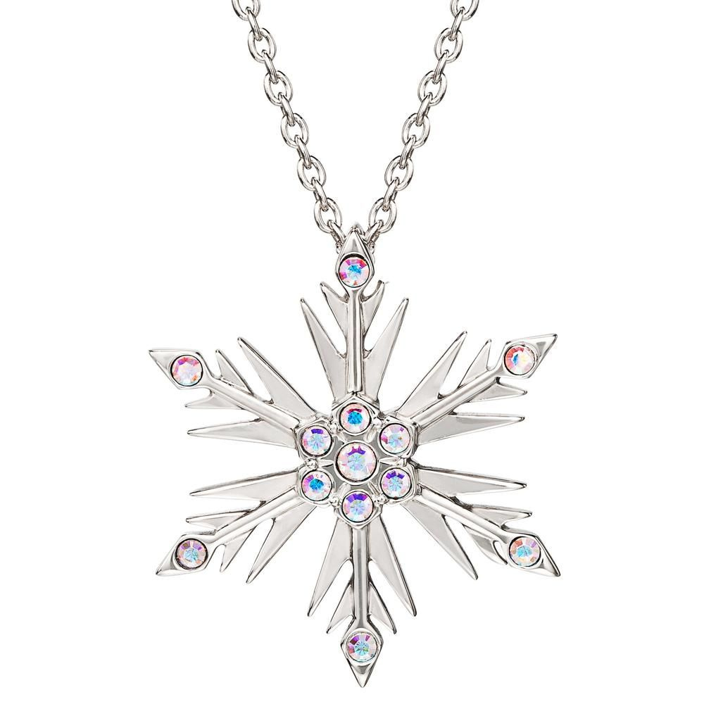 """Sparkling Crystal Snowflake Charm Pendant Necklace 2 Colors 18/"""" Chain"""