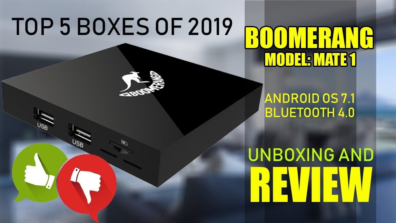 Boomerang Mate 1 Android TVBOX Unboxing And Review