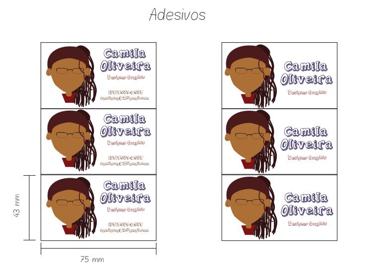 Aplicação da marca em adesivos- Altura e Largura