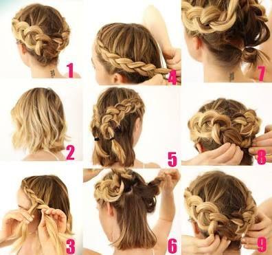 resultado de imagen para peinados faciles para cabello corto paso paso suelto