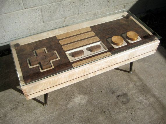 Functional Nintendo remote coffee table. DO WANT!
