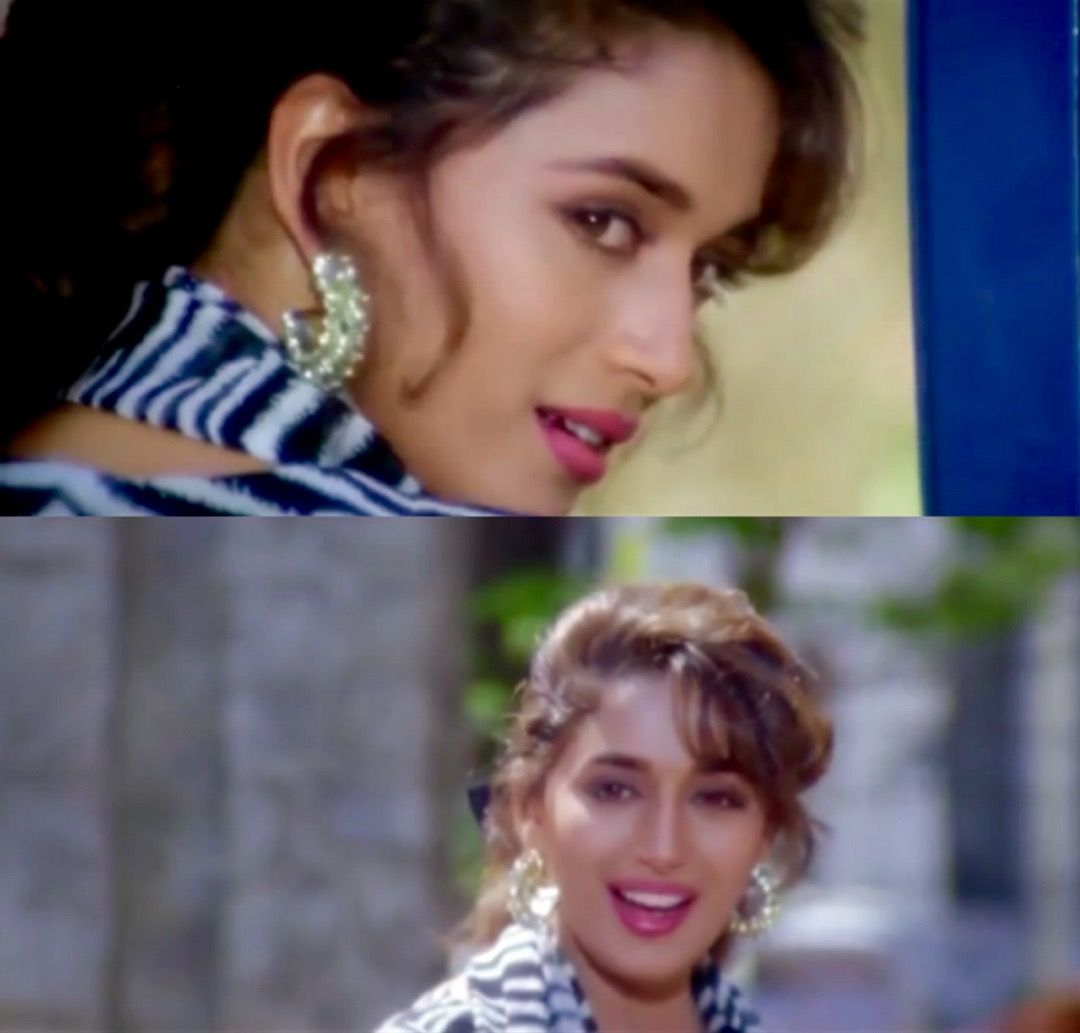 Madhuri Dixit In Dil Tera Aashiq Madhuri Dixit Bollywood Actors Bollywood Actress