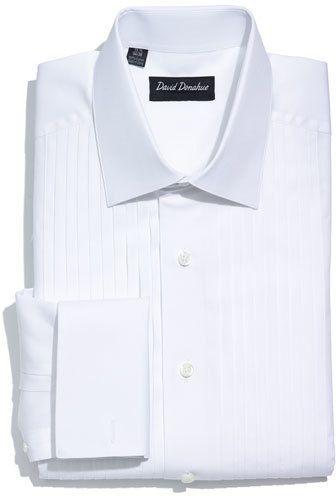 Men's David Donahue Regular Fit French Cuff Tuxedo Shirt