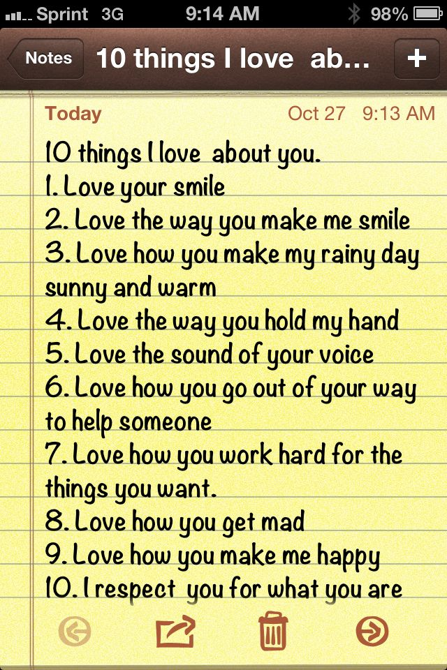 10 things I love about you  | Life and love | Boyfriend