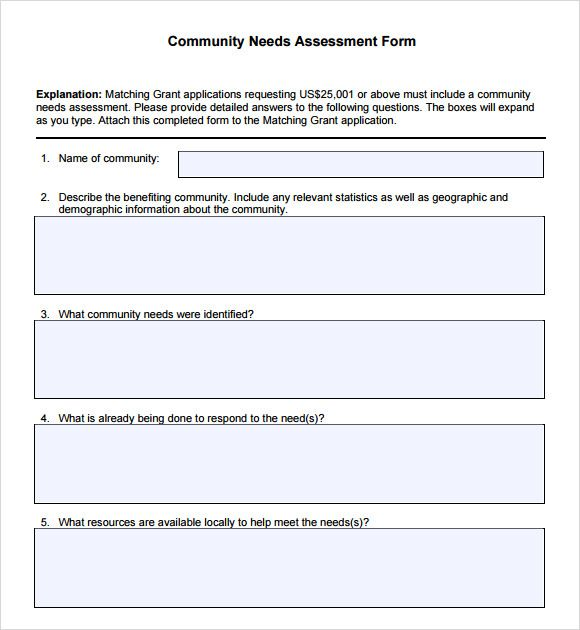 Community needs assessment form community pinterest community community needs assessment form maxwellsz