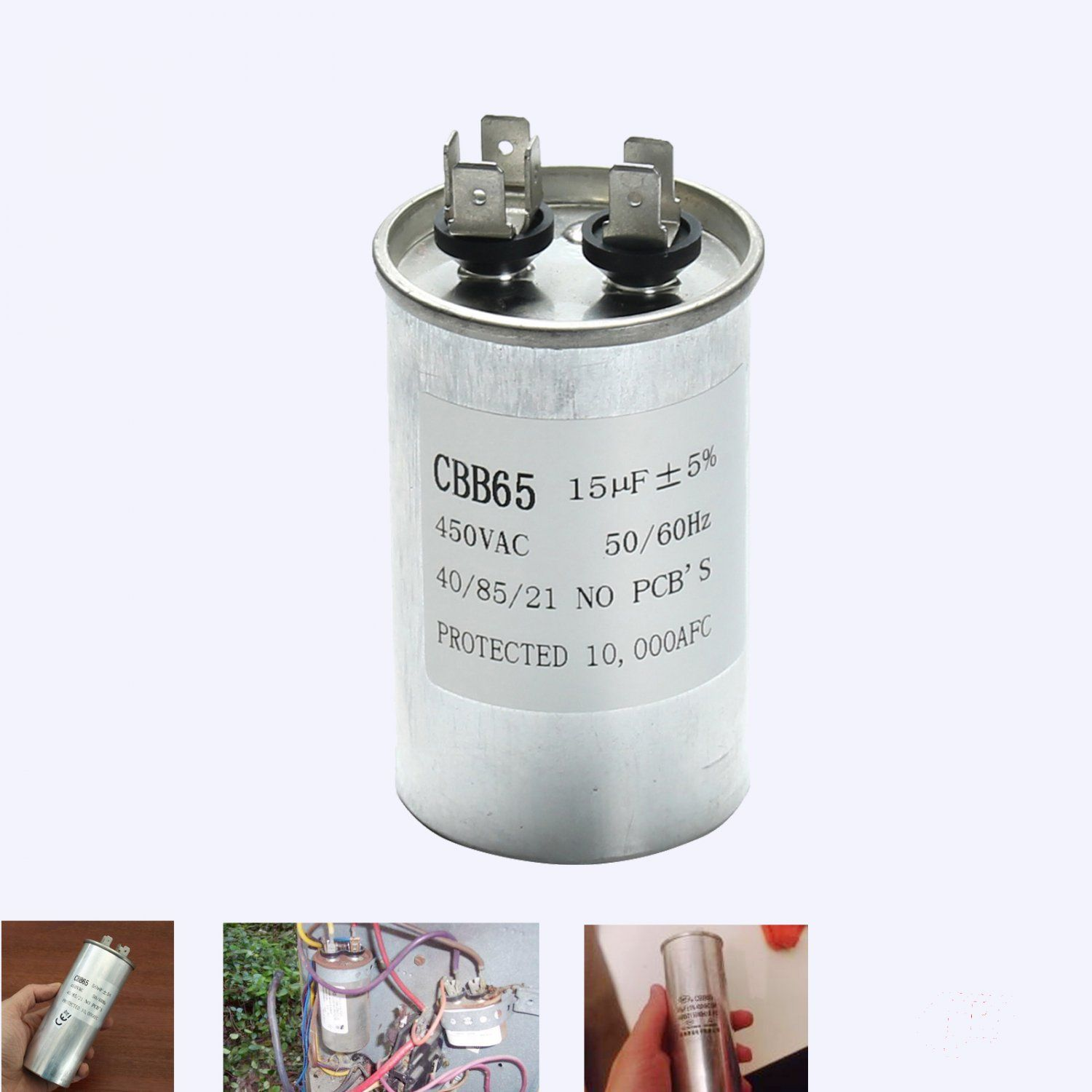 CBB65 450VAC 15uF Motor Capacitor Air Conditioner