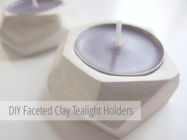 DIY FACETED CLAY TEA LIGHT HOLDERS. — Gathering Beauty