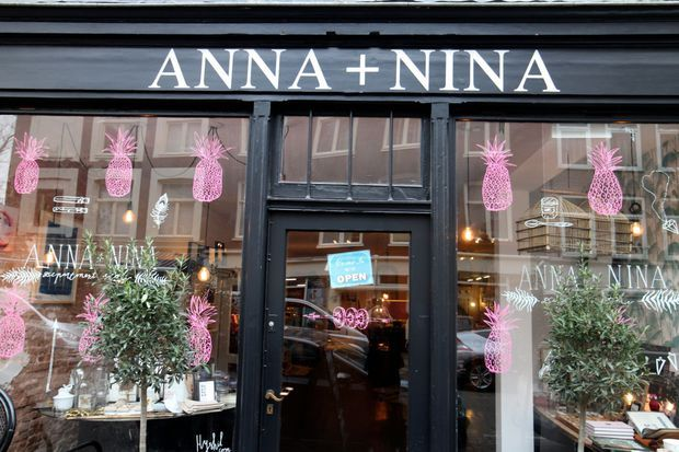 """Pineapples are the new black""  Loved by Anna + Nina #annaninanl #window #pineapple"