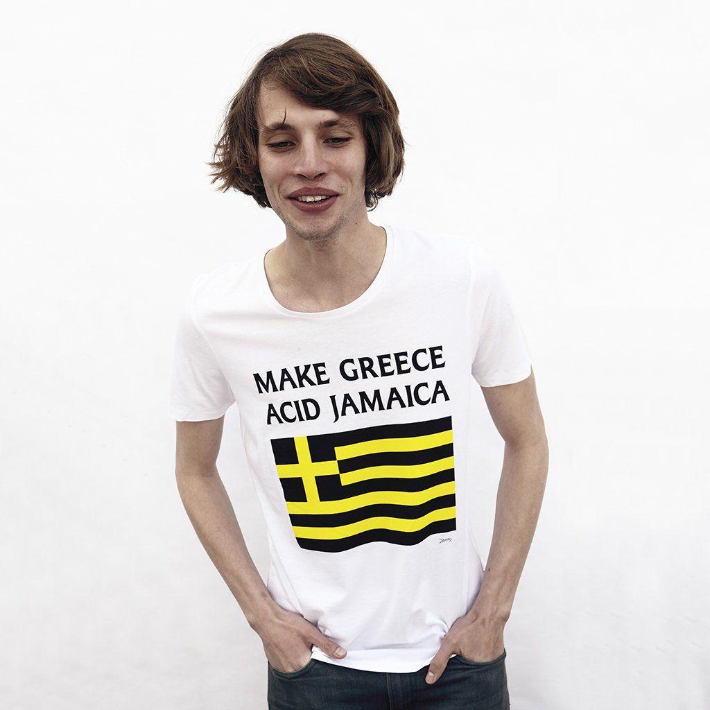 6fc0b229 Make Greece Acid Jamaica T Shirt | Plagg. | Shirts, T shirt et Jamaica
