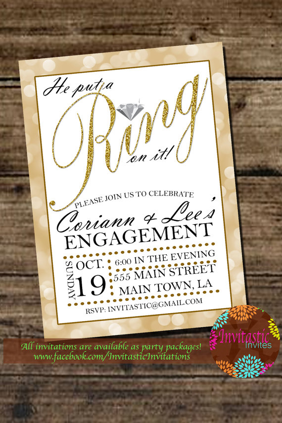 Engagement Party - He Put a Ring on it Glitter Engagement Party ...