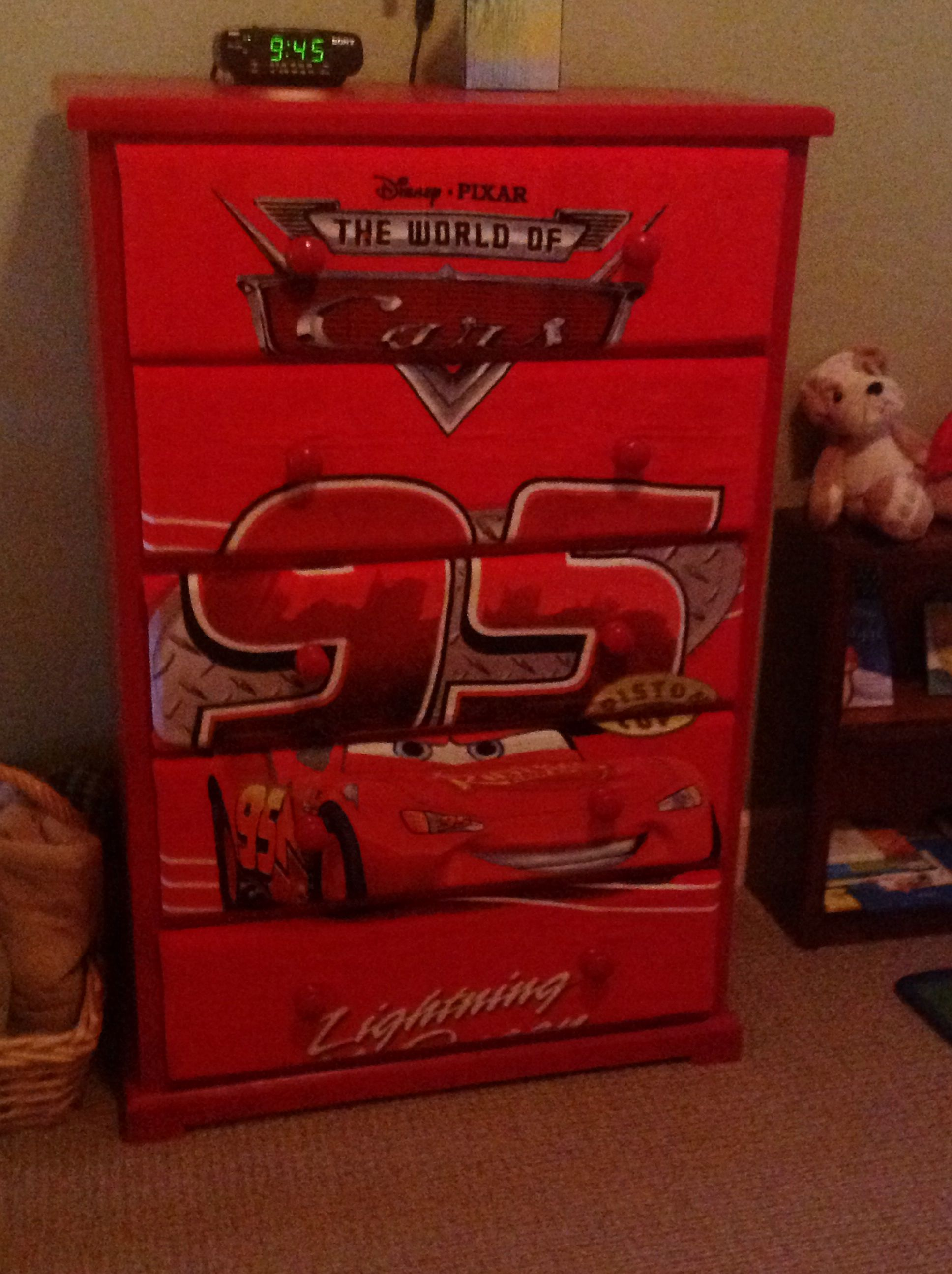 Disney Cars dresser   night stand   Ty s Room   Pinterest   Night     Disney Cars dresser   night stand