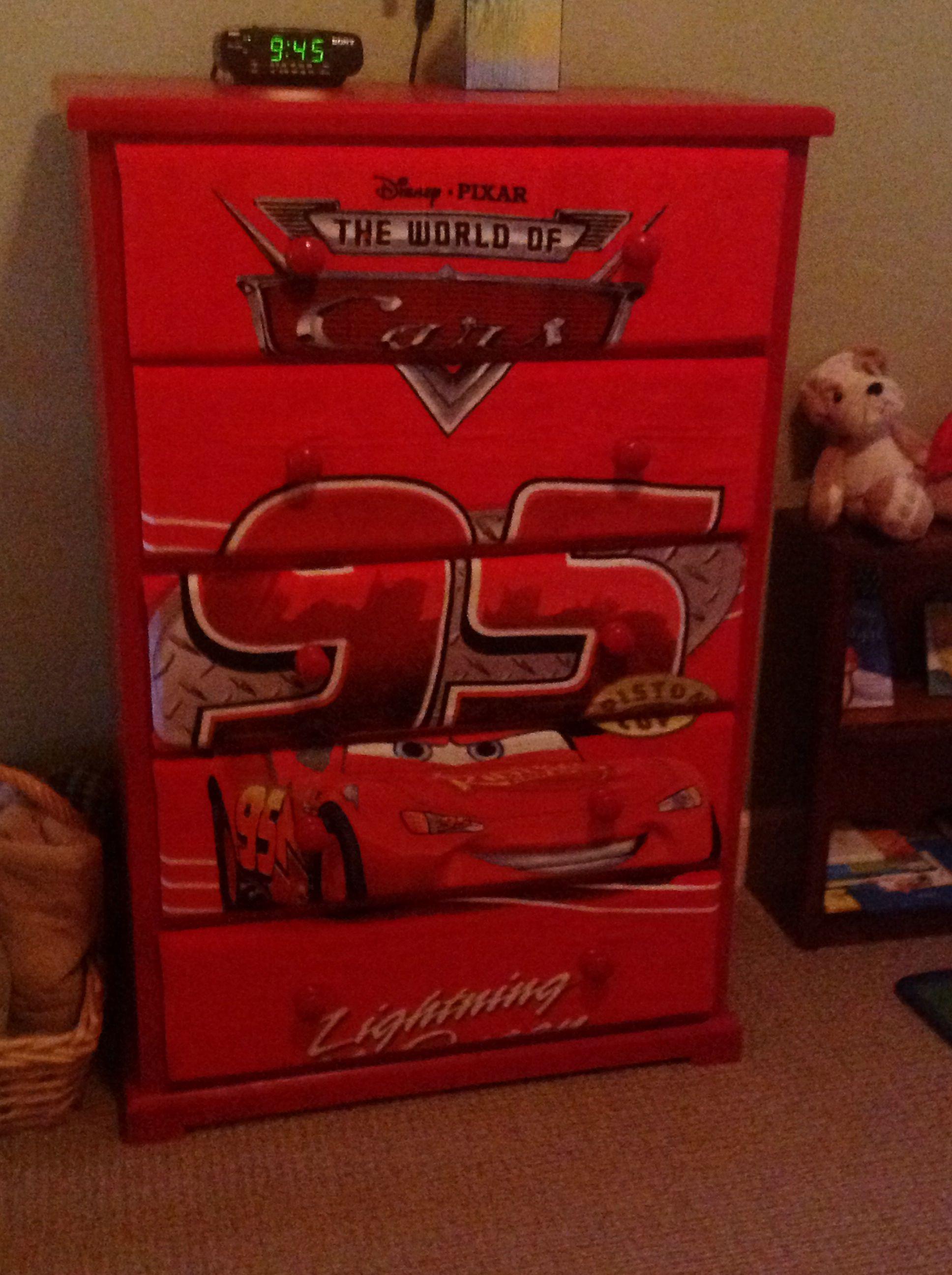Disney Cars Dresser Night Stand