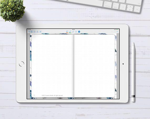 Digital Bullet Journal for GoodNotes App, GoodNotes Digital Bullet