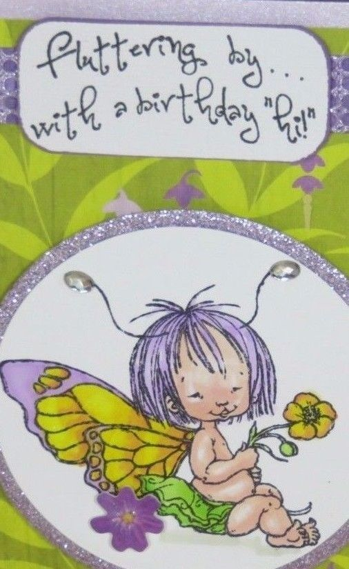 Handmadeeeting card birthday fairy fluttering by with a birthday greeting card birthday fairy fluttering by with a birthday hi m4hsunfo