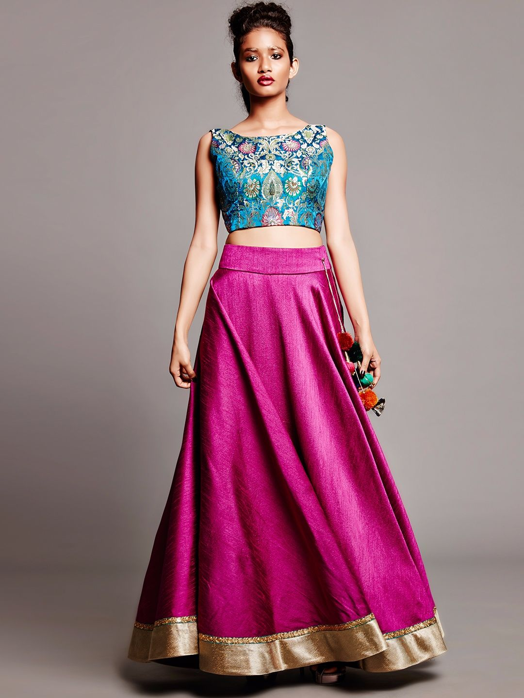 Plain Pink Silk Lehenga Choli | Desi Bolly Fashion | Pinterest