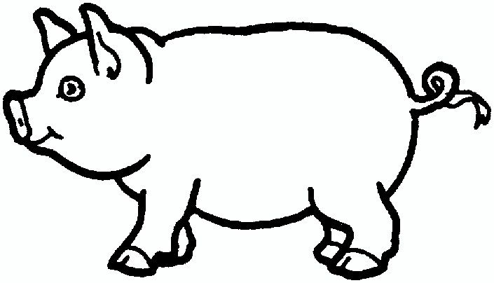 Pig Outline Animal Coloring Pages Farm Animal Coloring Pages Animal Templates
