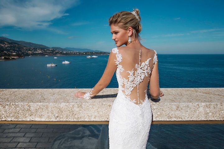 Sheer back wedding dress | fabmood.com #weddingdress #weddingdresses #bridalgown #weddinggown #weddinggowns