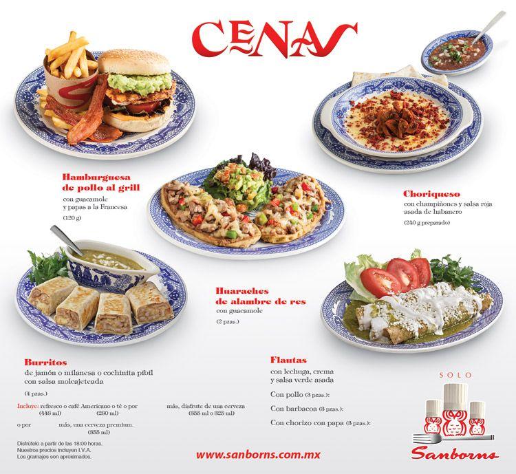 Cenas sanborns abril 16 platillos de cafeteras for Menu de sanborns