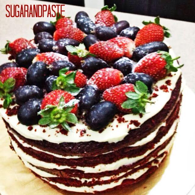 Naked Red Velvet Birthday Cake Name Red Velvet Naked Design With