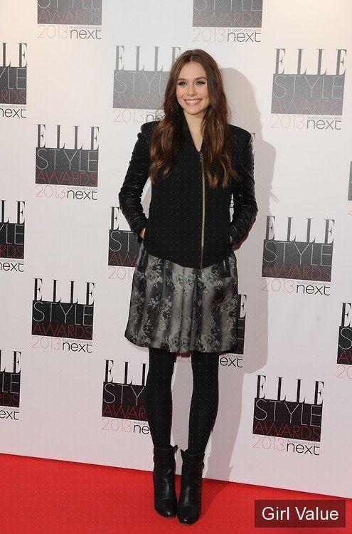 elizabeth olsen at elle style awards photos