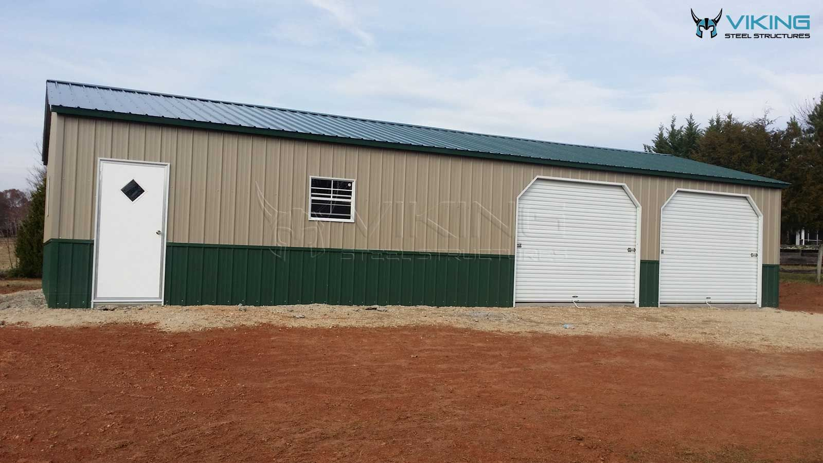 30 X55 X9 All Vertical Two Tone Garage In 2020 Steel Buildings Building Metal Structure