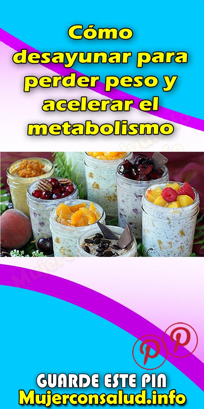 Como acelerar el metabolismo para bajar de peso yahoo