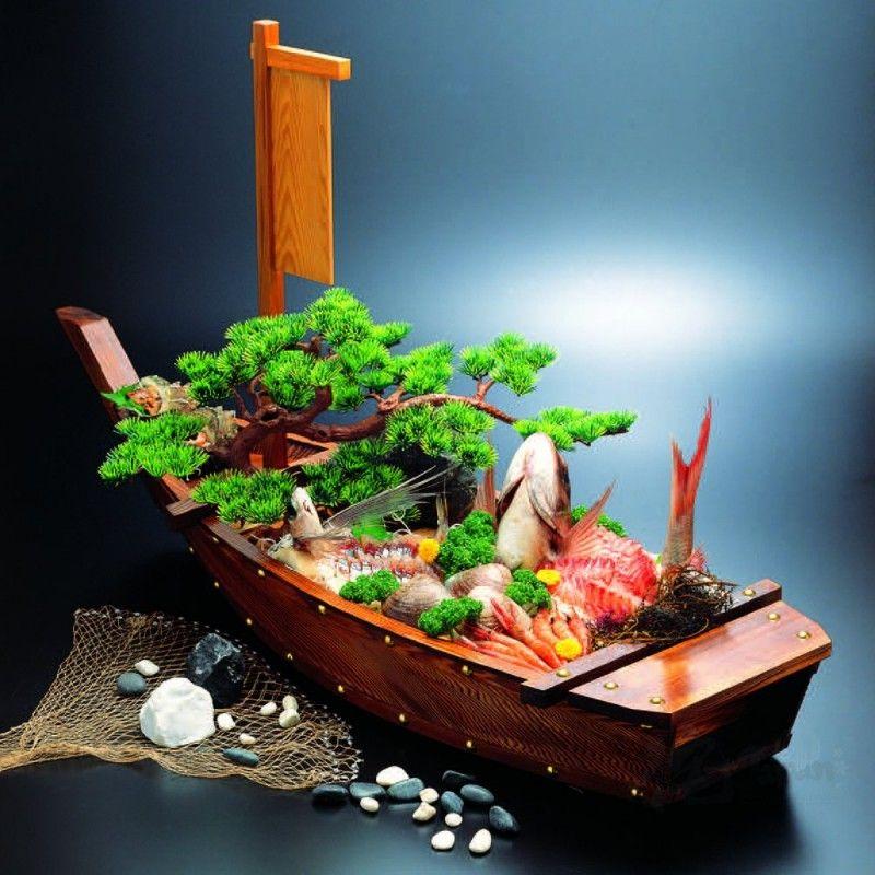 Size4 wooden burnt cedar Tairyobune ship│Funamoriki│Fukui Craft│53250250│Wabi Japan