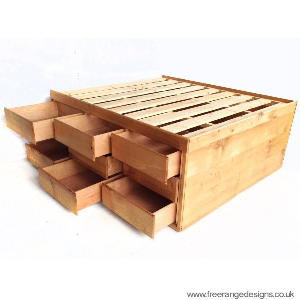High storage oak bed save space underneath ebay diy furniture