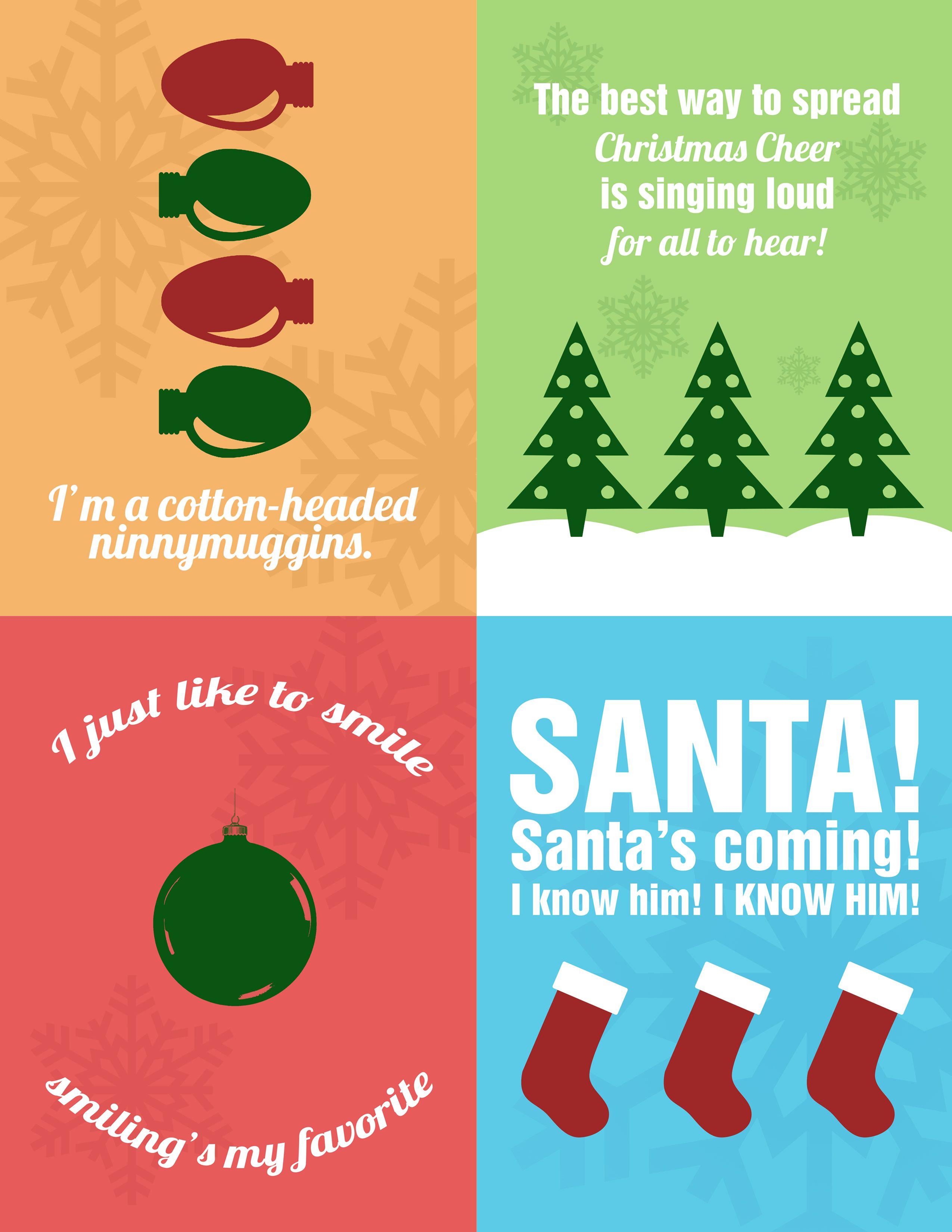 Elf Movie Quotes Christmas Printables Graphic Design Http Galleriabyleah Com Freebies Downloads Christmas Movie Quotes Buddy The Elf Quotes Elf Quotes