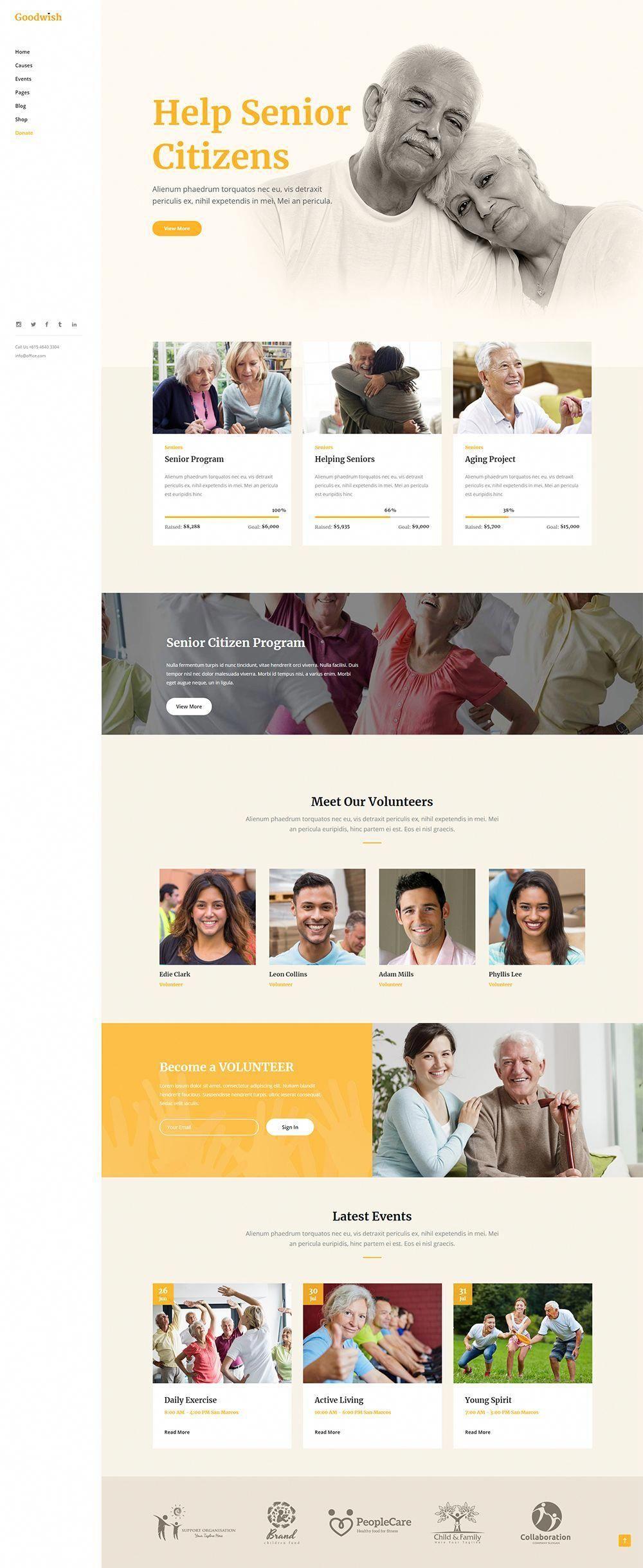No Matter What Kind Of Charity Or Nonprofit Organization You Run Goodwish Wordpress Theme Has What You In 2020 Nonprofit Website Design Charity Work Ideas Web Design