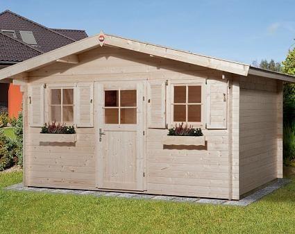 DoppelPultdach Gartenhaus Modell Vinea40 Lieux à