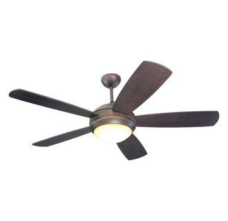 View the monte carlo discus five bladed 52 inch ceiling fan blades monte carlo discus ceiling fan with light kit roman bronze heavy duty 153 by 18 torque induction motor pitch for optimum air movement mozeypictures Gallery