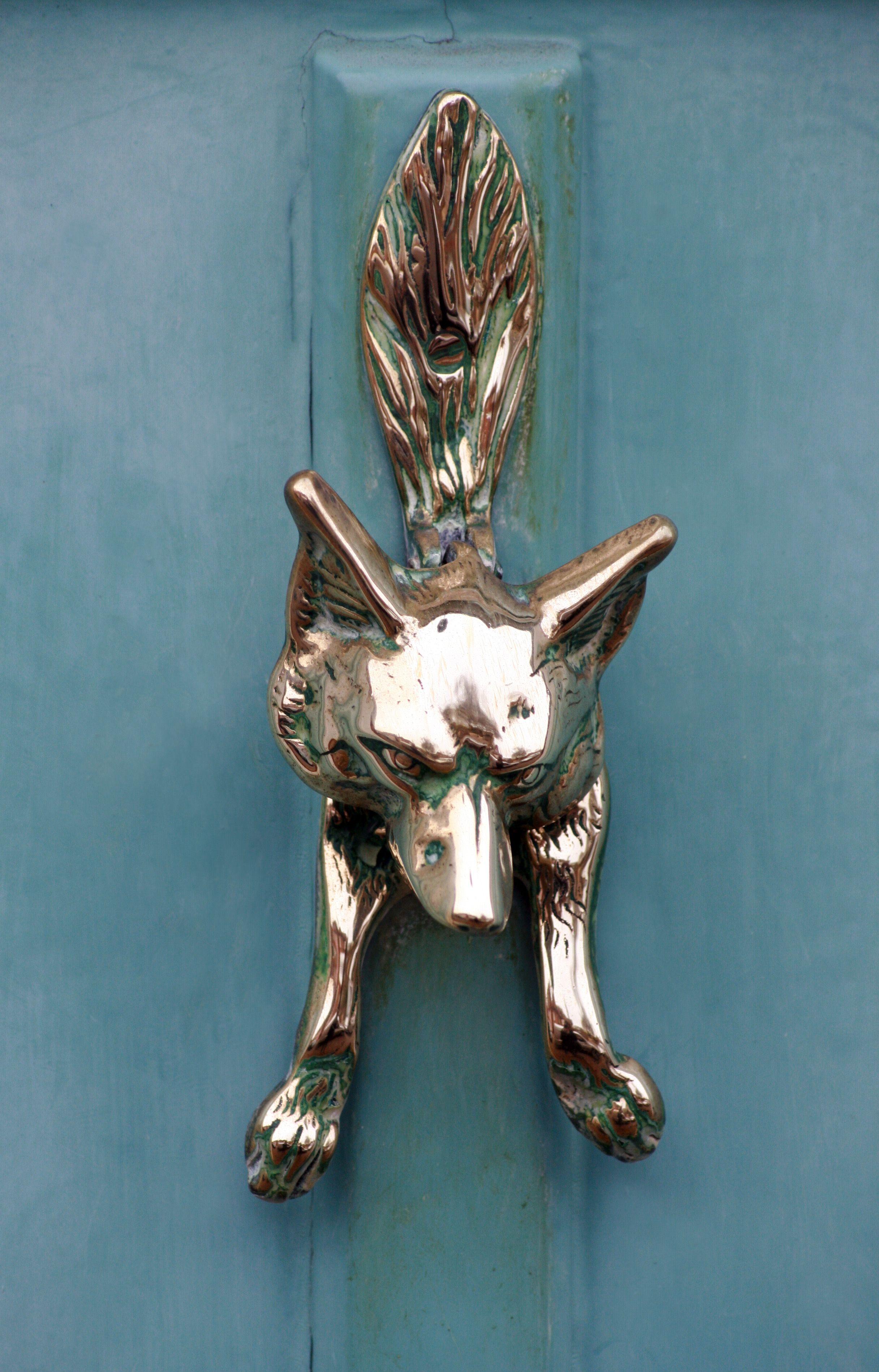 Foxy door knocker door knockers unique door knobs and knockers porch doors house