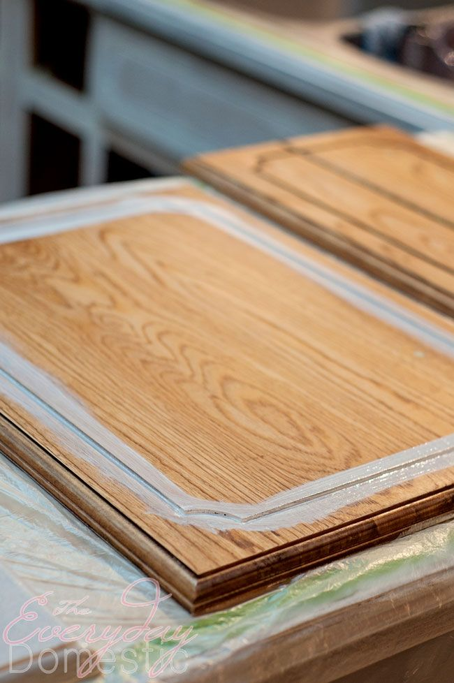 Painting Kitchen Cabinets - Transforming Dated 1970s Oak ...