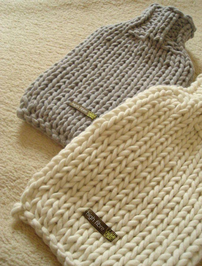 Hand Knitted Hot Water Bottle Cover   La bolsa, El agua y Agua