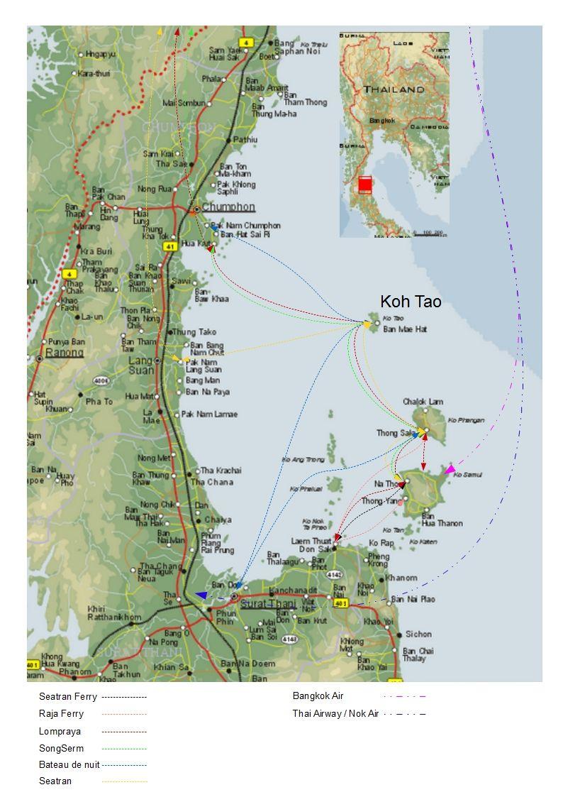 Carte Thailande Surat Thani.Surat Thani Koh Samui Transport Thailande Thailand In