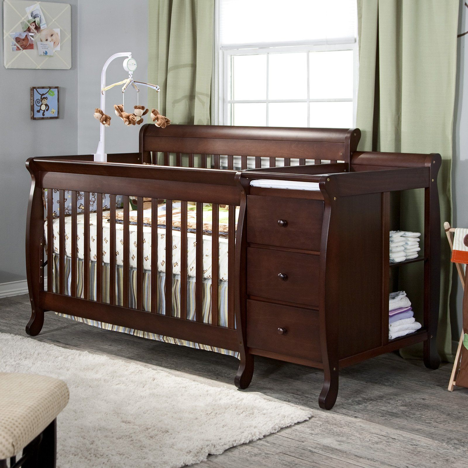 davinci nursery set crib shipping combo piece dresser chestnut drawer changer and free convertible kalani in