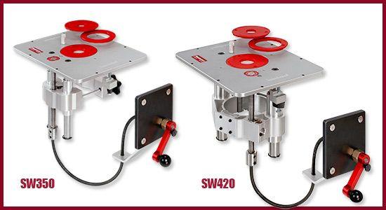 Side Winder Router Lift Werkstatteinrichtung Werkstatt Werkzeuge Holz Ideen