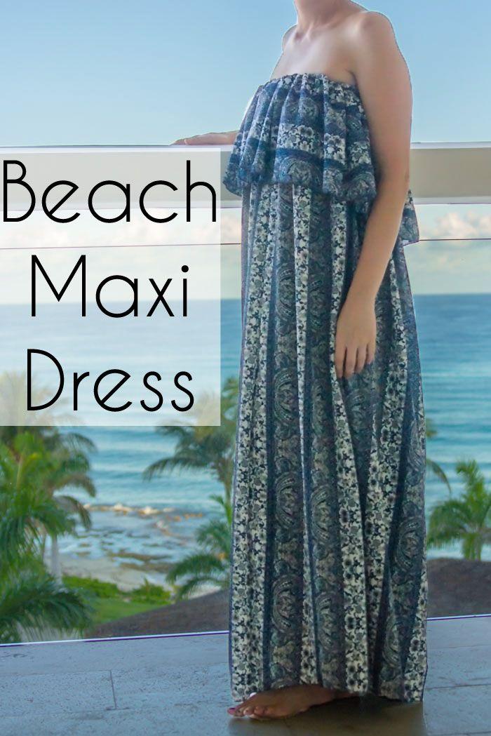 Ruffled Maxi Dress Strand vertuschen - so einfach zu nähen - Melly ...