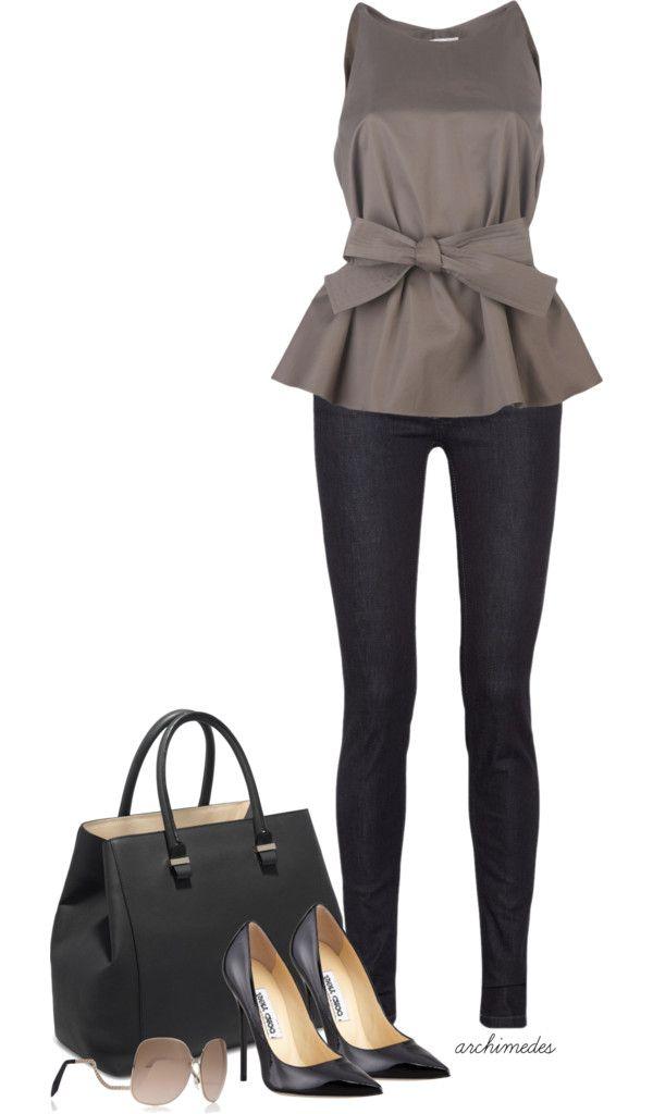 456eff7aaf4e Spring/Summer-2014 Jobbkläder, Jeansoutfits, Arbetskläder, Modealternativ,  Kvinna Stil,
