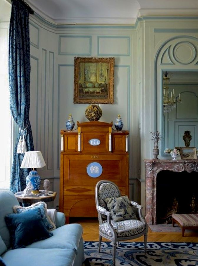 Design By Timothy Corrigan Blue And White Interior