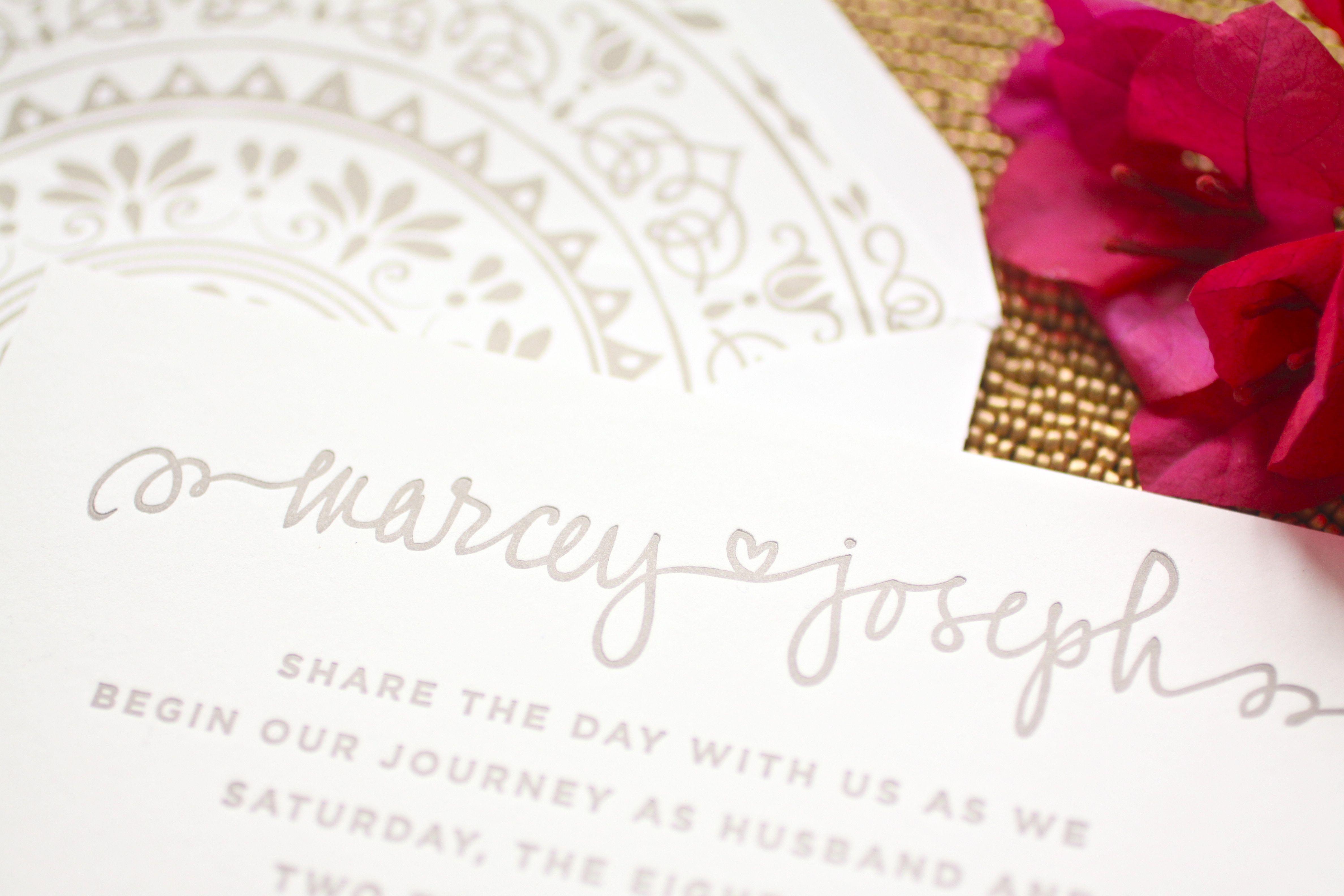 Marcey u josephus letterpress wedding invitations letterpress w