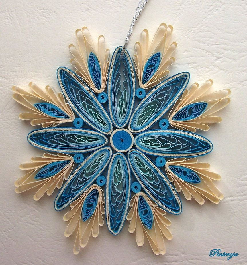 Quilled snowflake by pinterzsu quilling pinterest for Quilling patterns