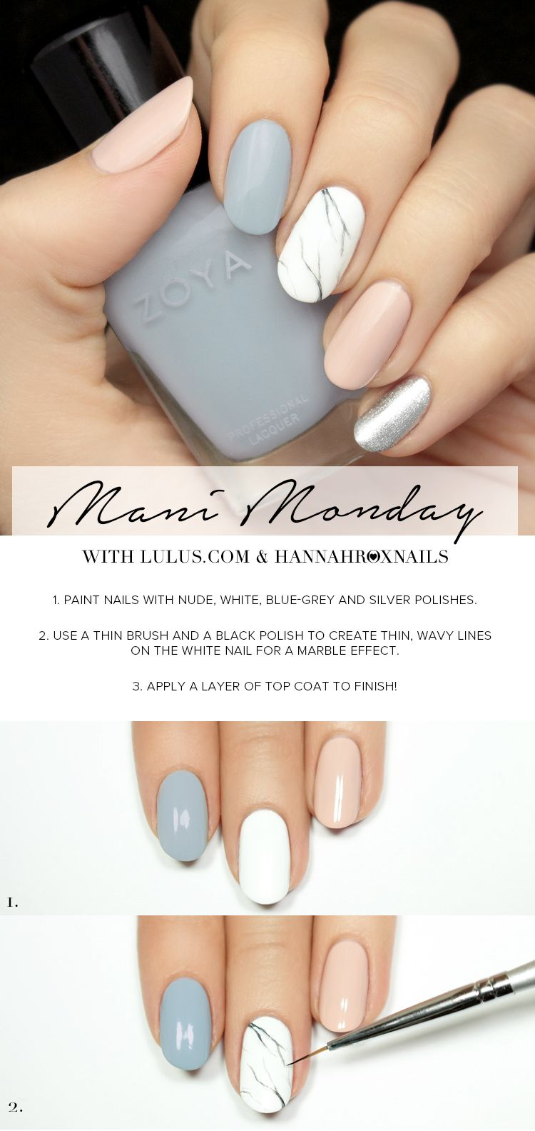 Lulus.com Fashion Blog | Pinterest | Marble nails tutorial, Marble ...