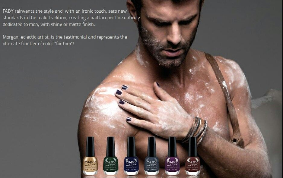 Faby .men wearing nail polish | mani men | Pinterest