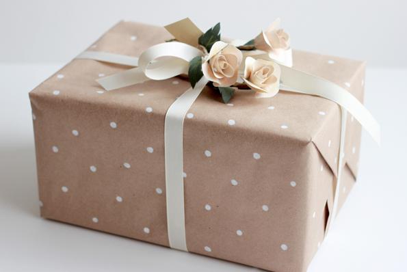Wedding Gift Wrapping Ideas Diy Polka Dot Gift Wrap 550x367