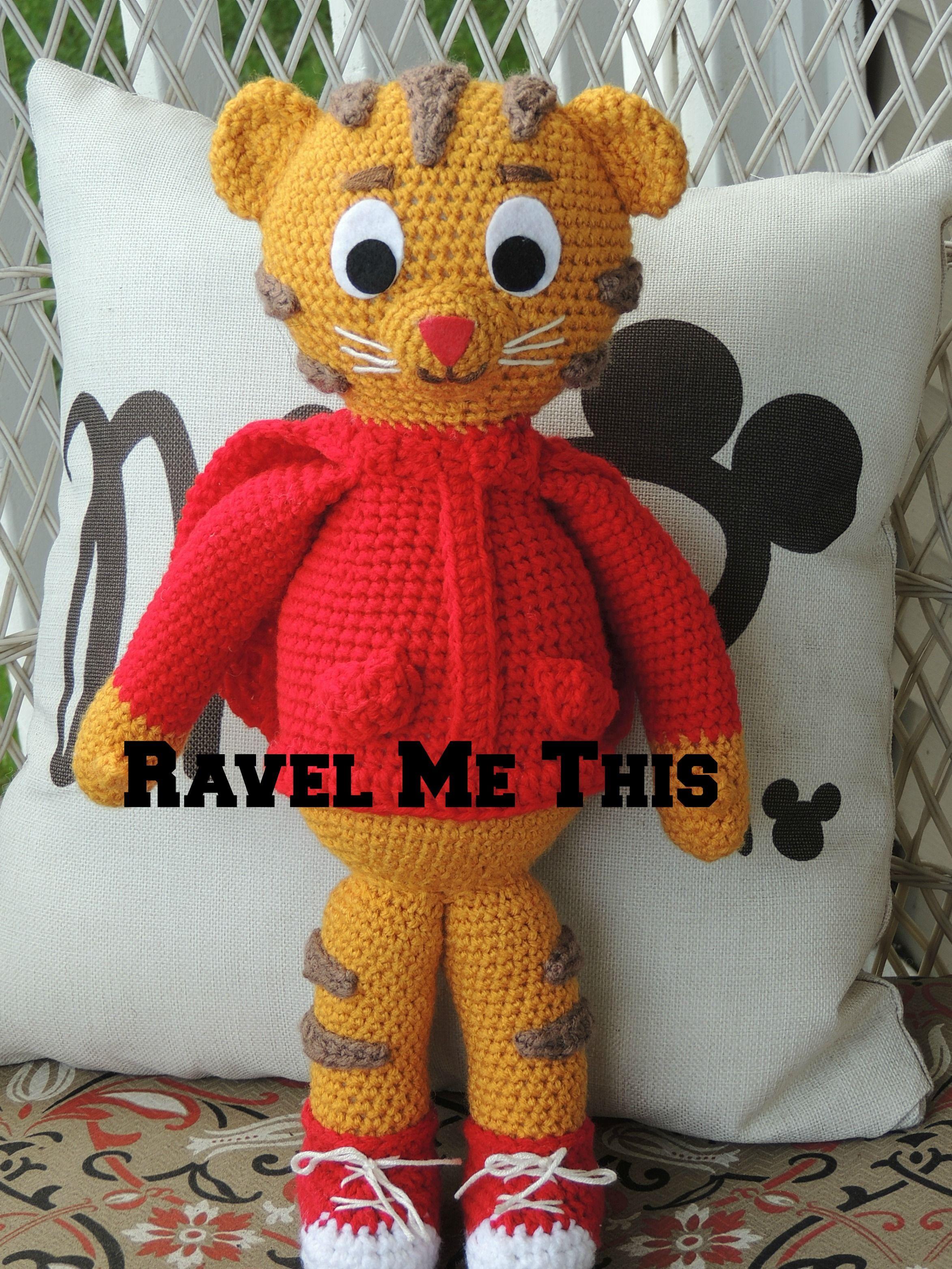 Daniel Tiger crochet doll Ravel Me This | Crochet ...