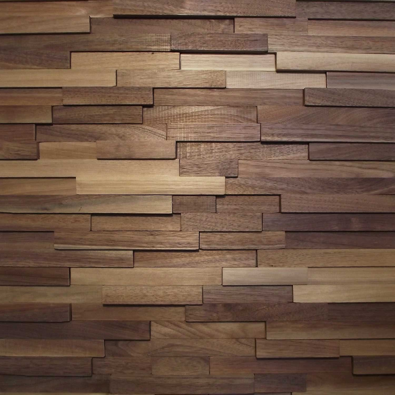 Try this dimensional reclaimed wood wall panel as an accent wall instead of  more expensive ceramic tile