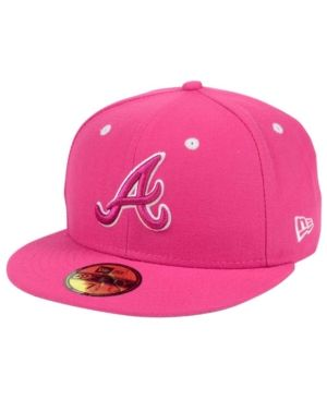 best sneakers eddc1 dce23 New Era Atlanta Braves Pantone Collection 59FIFTY Cap - Pink 7 1 4